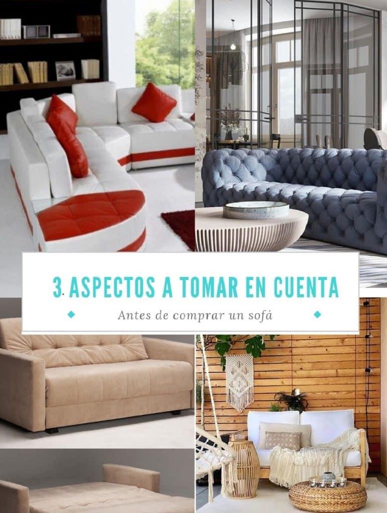aspectos a tomar en cuenta al comprar un sofá